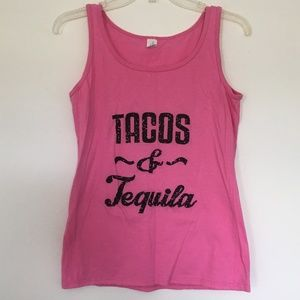 Pink Tacos and Tequila Tank Top